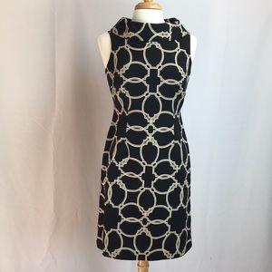 Talbots Sleeveless Geometric Pattern Shift Dress